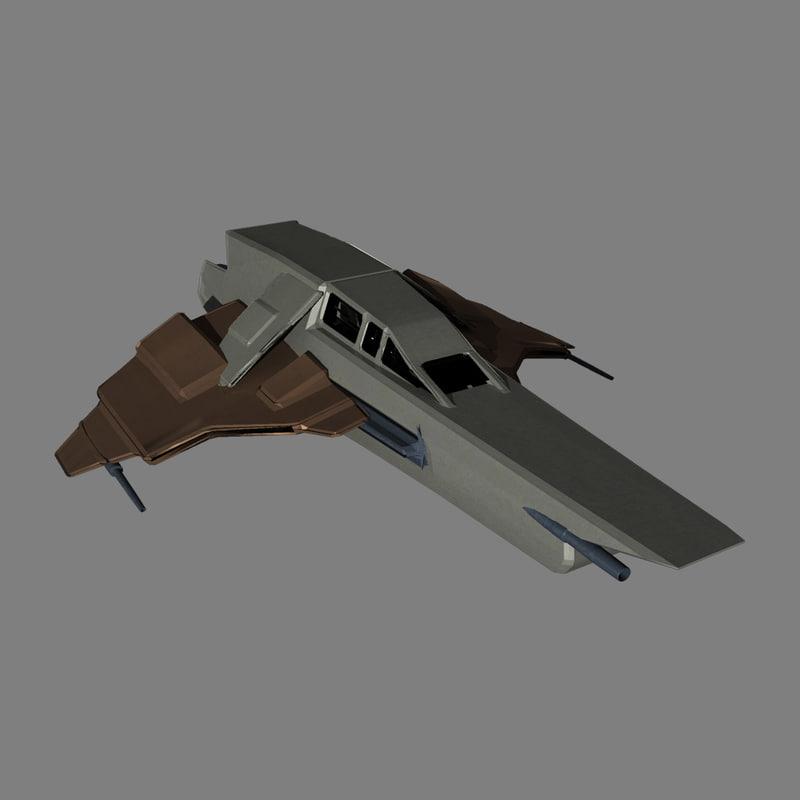 3d model fi star fighter