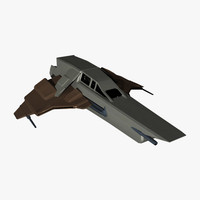 3d model fi star fighter