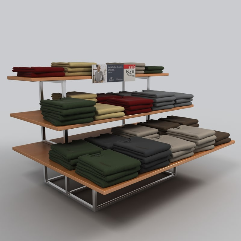 sweater table 3d 3ds