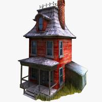 3ds max cartoonish house