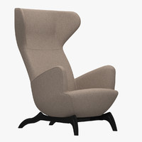 3d model carlo mollino chair