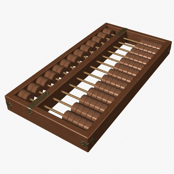 abacus chinese 3d model