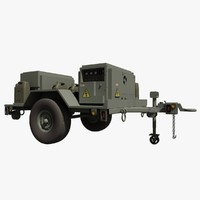 3d model military hmmwv towable mobile
