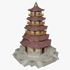 3d model pagoda