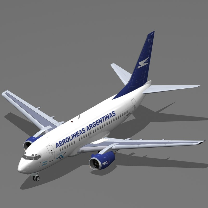 b 737-500 aerolineas argentinas 3d model