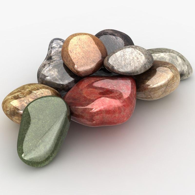3d model realistic stones
