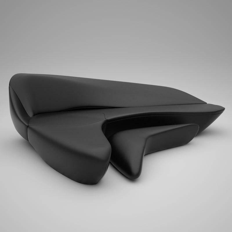 3d model sofa moon