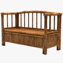 wooden bench 3D models
