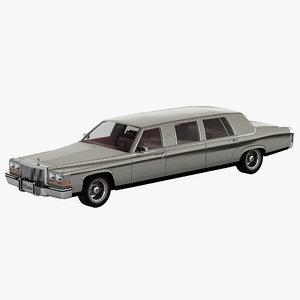 cadillac fleetwood limousine 3d model