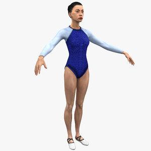 3d olympic female gymnast