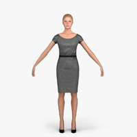 woman character people rigged 3d model