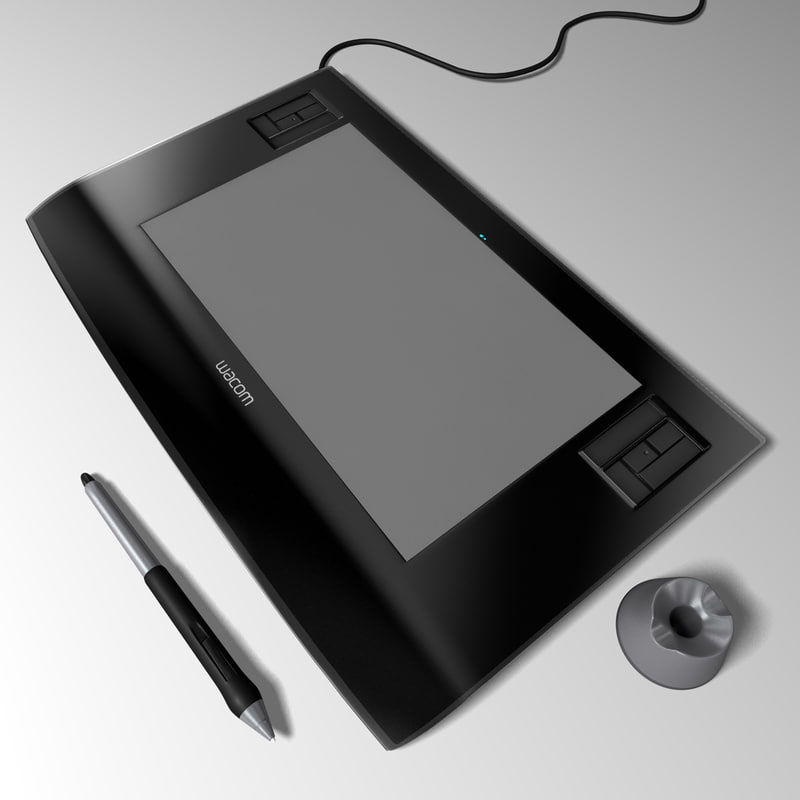 wacom tablet pen 3d c4d