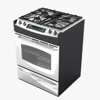 general gas stove 3d max