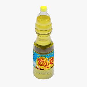 bottle oil 3d model