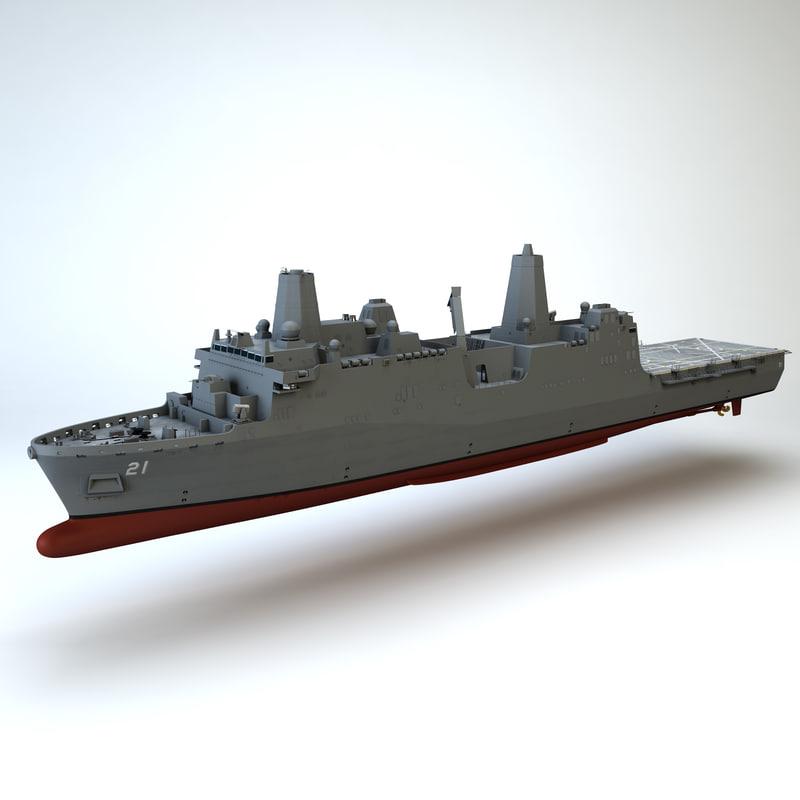 3dsmax uss new york ship
