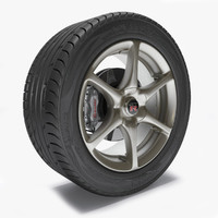 wheel gtr r34 3d model