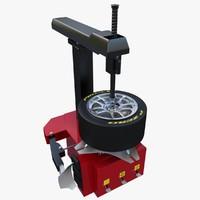 tire changer 3d max