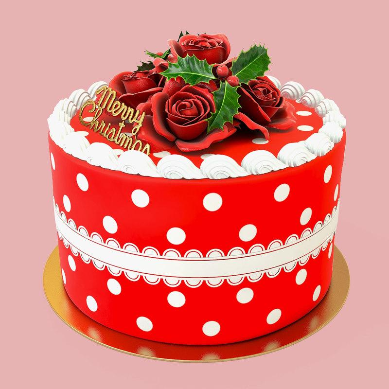 christmas cake 3d max