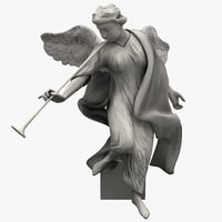 3d model angel statuette statue 4