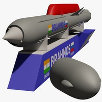 3d model brahmos supersonic cruise missile