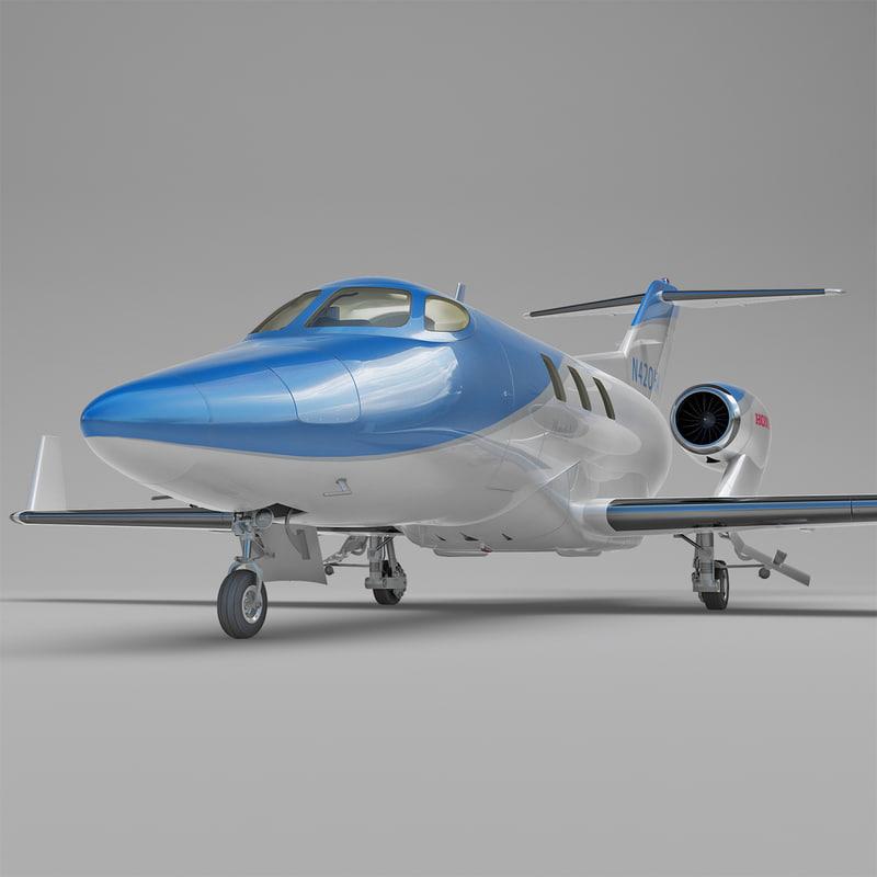 3d model business jet honda ha-420