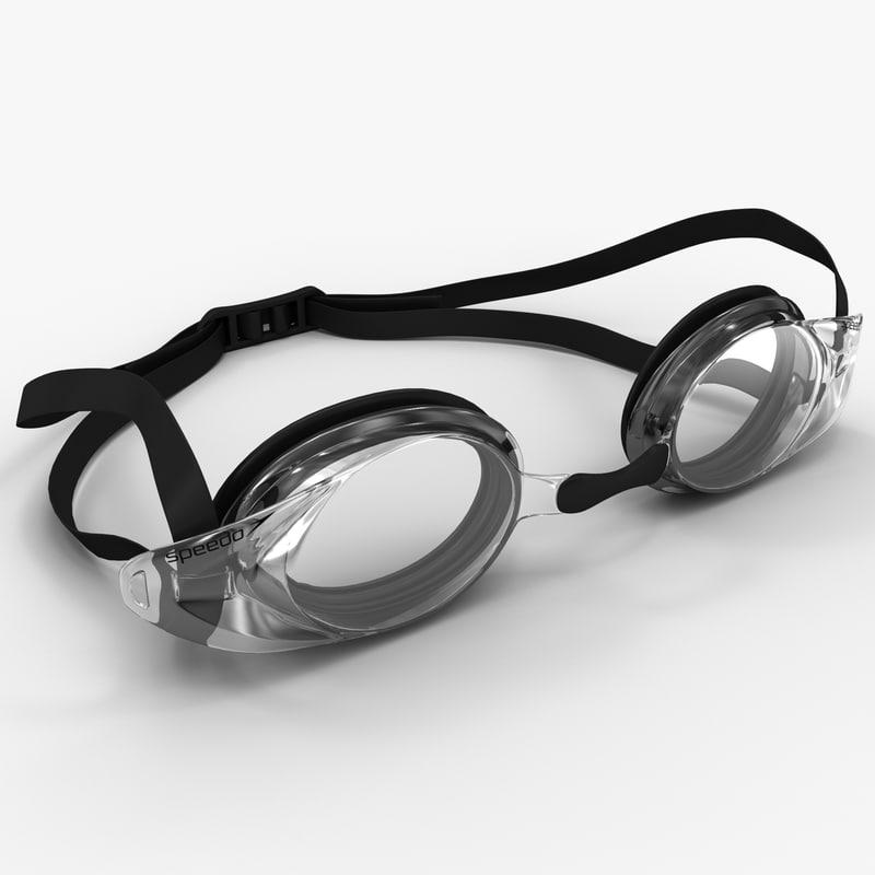 3d c4d swimming optical goggles speedo