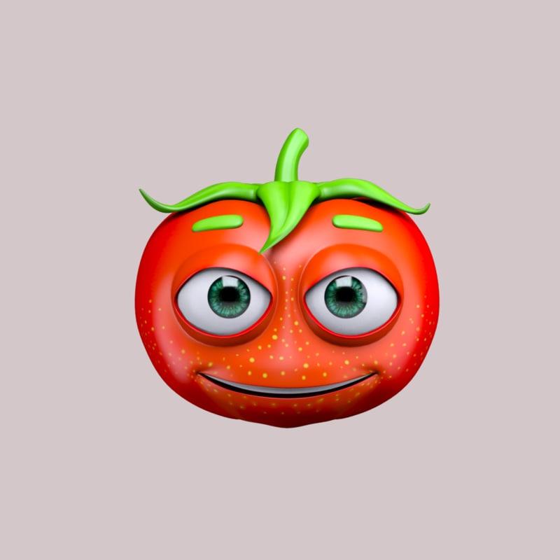 max cartoon character tomato