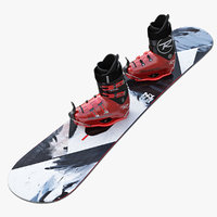 3d model snowboard kit