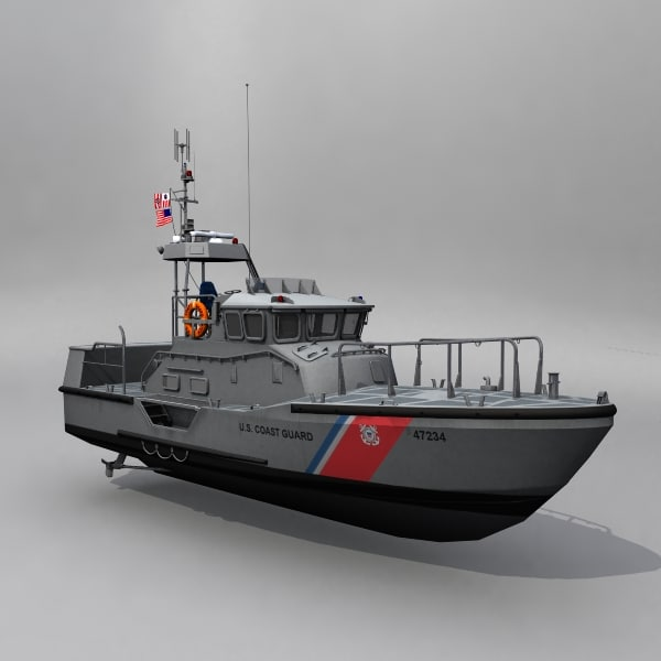 3d coast guard 47-foot motor model