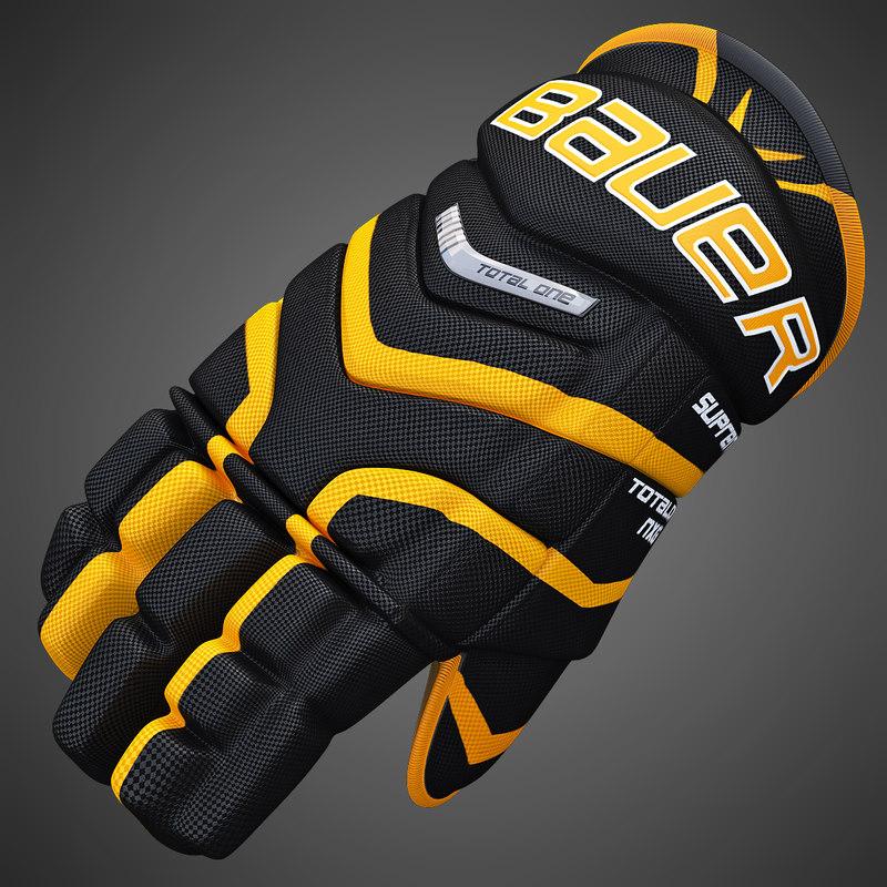 3ds max ice hockey glove