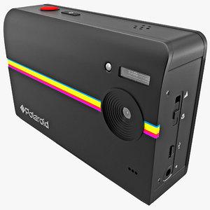 3d digital print camera polaroid model