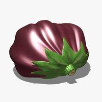 3d model eggplant scanline