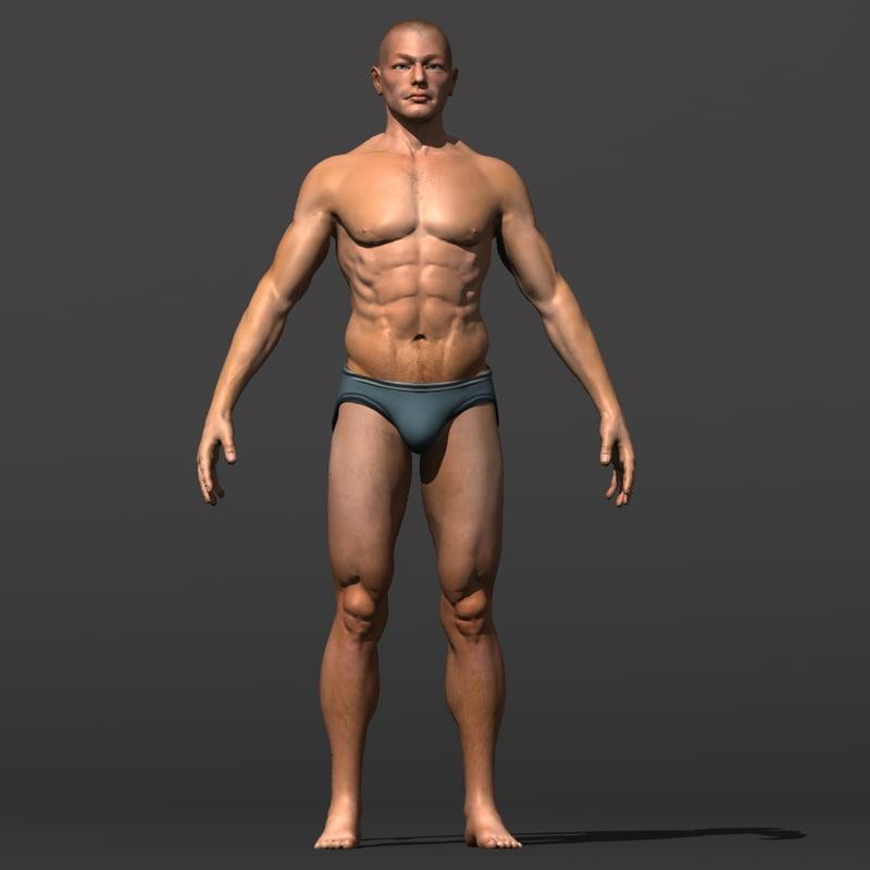 3dsmax resolution human male