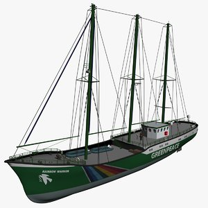 3d model of rainbow warrior green peace