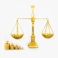 golden balancing 3d model