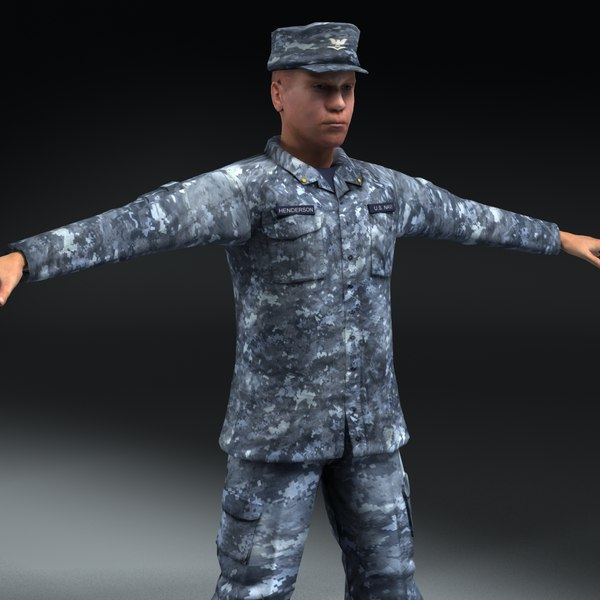 navy military el 3d 3ds