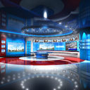 tv studio 3D models
