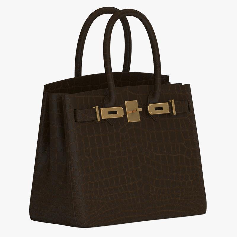 3d hermes birkin handbag