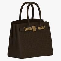 hermes birkin handbag 3d obj