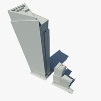 square tower 3d model