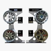 3d wheels volk racing model