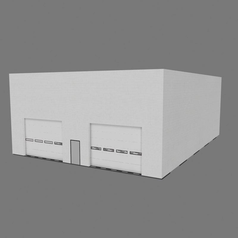 3d garage scene model