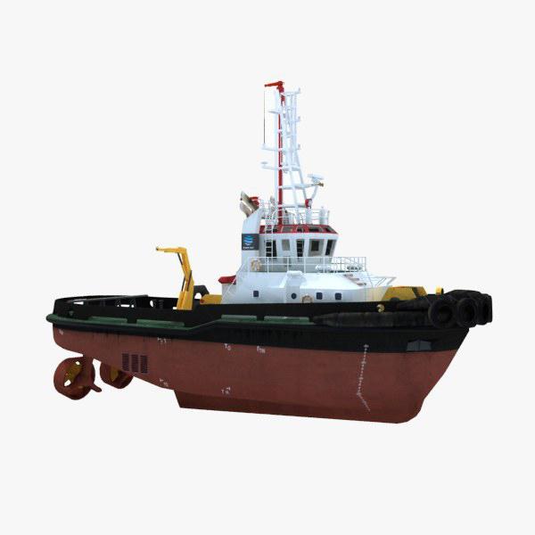 tugboat water ships 3d model