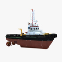 "Tug Boat ""Hard Day"