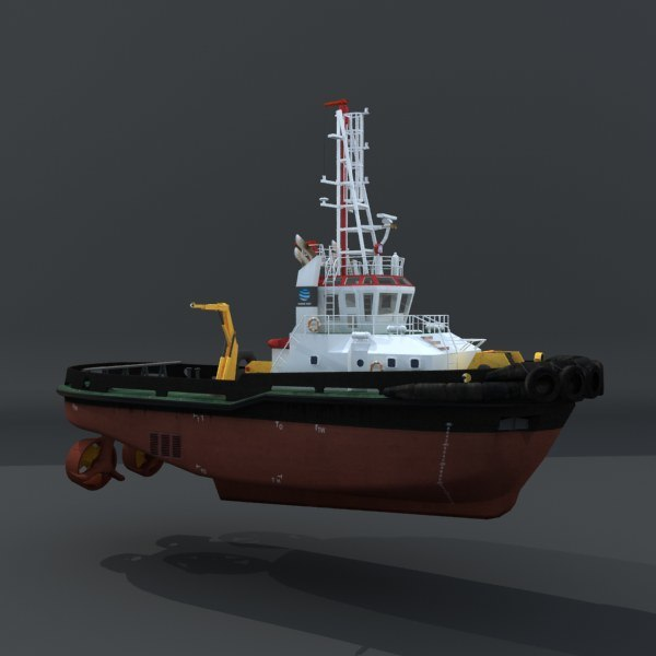 tugboat water ships 3d model