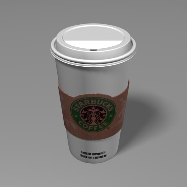 3d starbucks coffee cup model