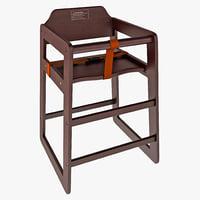 Finish Stacking High Chair Winco Walnut