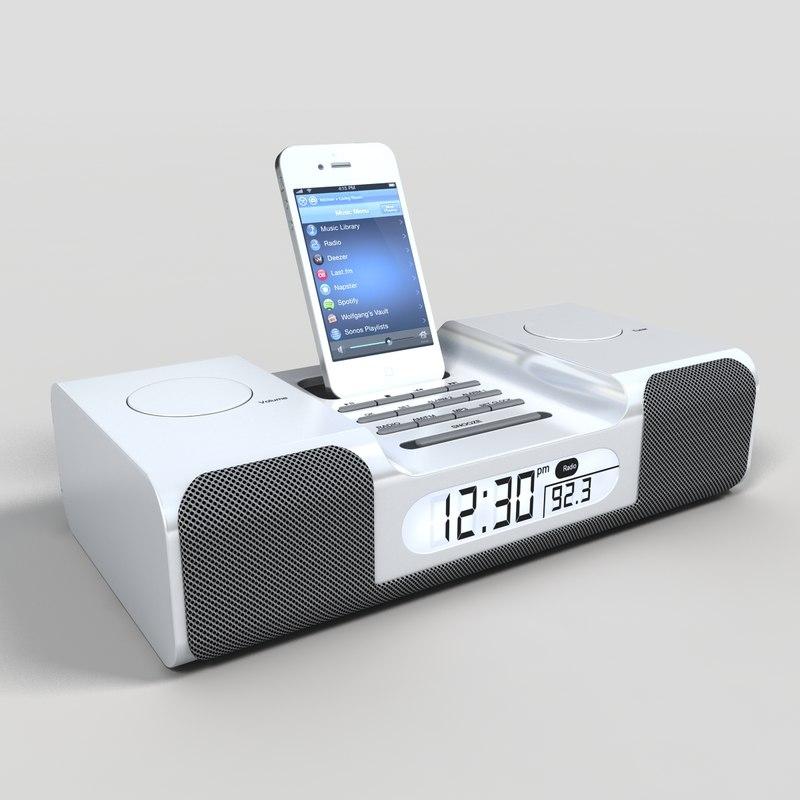 3d model clock radio