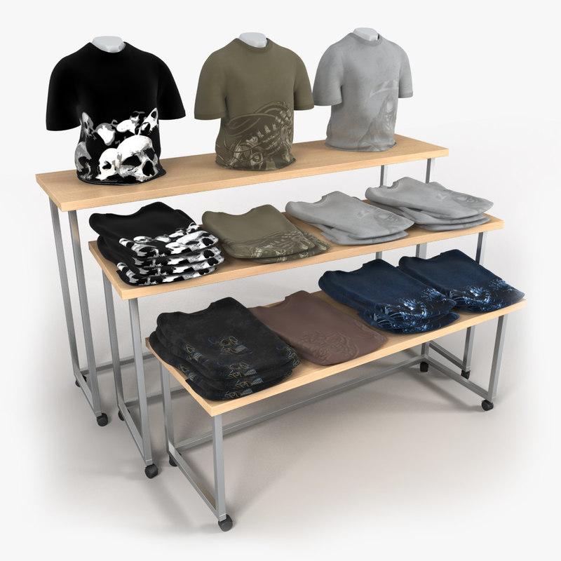 3d model t-shirt table shirts