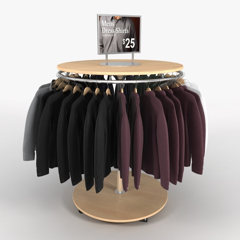 dress shirt rack 3ds